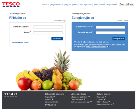 Tesco - online potraviny